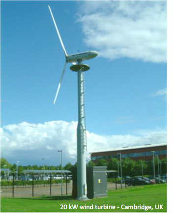Cambridge 20 kW wind turbine